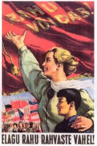 Siima Škop. Elagu rahu rahvaste vahel. Litograafia, 1950ndad.