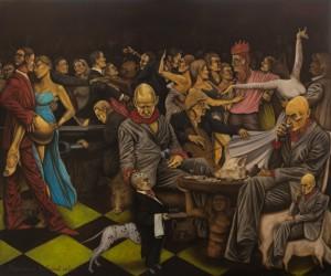 """Toomas Kuusing """"Põrgukoerad tantsivad valssi"""" 2015. Õli/lõuend"""