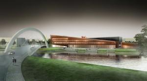 Tartu ülikool valis Narva maanteele ehitatavale IT-keskusele kuue võistlustöö seast välja arhitektuurse lahenduse nimega ICONICUM.