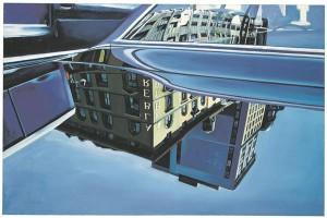 Richard Estes(1932). Peegeldused autol. Õli, lõuend, 1969. Erakogu.