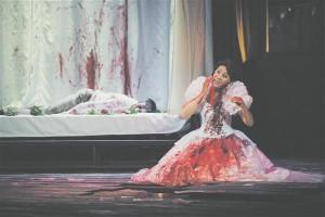 Vaid verefetiš muutus ehk liiga plakatlikuks: seda voolab Lucia silmist kavalehe kaanel,  punaseks värvub purskkaevu vesi ja muidugi pruutkleit.