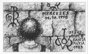 """Maarja Unduski illustratsioon raamatust """"Teekond Hispaania""""."""