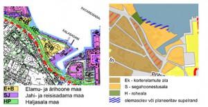 Rannajoone planeerimise muudatus jõudis enne detailplaneeringu kehtestamist ka üldplaneeringusse. Kehtestatud Paljassaare ja Russalka vahelise rannaala üldplaneering (2004) ja menetletav Põhja-Tallinna üldplaneering (2014).