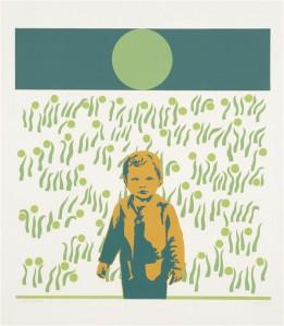 Illimar Paul. Kevad. Siiditrükk, paber, 1974.