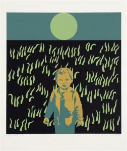 Illimar Paul. Tärkamine. Siiditrükk, paber, 1974.