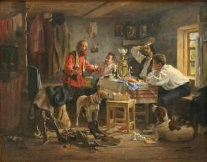 Aleksandr Makovski (1869–1924). Luiskab! Õli, lõuend, 1897.