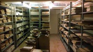 Rahvusooperi vanade nootide arhiiv enne renoveerimistöid.