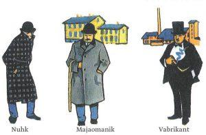 """Väino Tõnisson.   Illustratsioon Hillar Palametsa 4. klassi ajalooõpikus """"Jutustusi kodumaa ajaloost""""."""