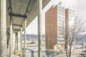 14 korrusega puidust elumaja Norras Bergenis.