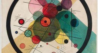 Vassili Kandinsky. Ringid ringis. Õli lõuendil, 1923.
