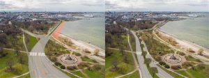 Reidi tee uus eskiis ja linnaplaneerimisameti alternatiivne lahendus, mis lahutab Russalka ristmiku väiksemateks osadeks.