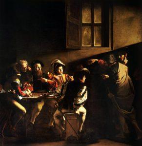 """Storaro suureks inspiratsiooniks oli Caravaggio maal """"Matteuse kutsumus"""" (1600)."""