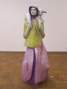Mare Mikoff. Karjatüdruk. Alumiinium, 2015. Autori omand.