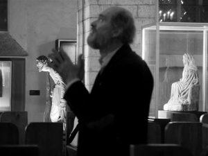 Arvo Pärt vokaalansambli Vox Clamantis proovis Niguliste kirikus.