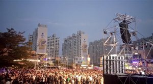 Gwangju biennaali avamine oli suurejooneline linnakodanikele avatud üritus.