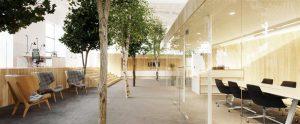 Laste pealisrõivaste disaini ja tootmise ettevõtte Lenne peakontor. Sisearhitektuur Kamp Arhitektid.