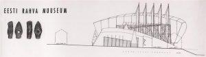 """Esimene oli ERMi konkurss, mille võitnud projekt """"Põhja konn"""" märkis uue suurejoonelise muuseumiarhitektuuri sündi Eestis (arh Ra Luhse ja Tanel Tuhal, muuseumi suurus 23250ruutmeetrit)."""