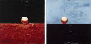 Valeri Vinogradov. Kompositsioon keraga I ja II. Õli, lõuend, 2000.