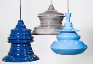 Keraamiliste lampide kollektsioon Solid Spin sündis eksperimentidest keerlevate igapäevaobjektidega.