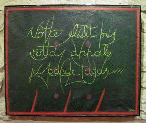 Lemming Nagel. Võtke elult, mis võtta annab, ja pange tagasi. Õli, lõuend, 1978–1979.