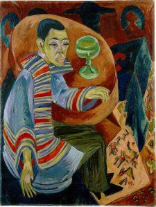 Ernst Ludwig Kirchner. Joodik (autoportree). Õli lõuendil, 1914/1915.