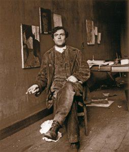 Amedeo Modigliani oma ateljees  1915. aastal.