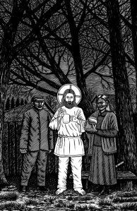 Lauri Sommeri juttudes ei pane näiteks vahtramahla järele januneva Kristuse ilmumine öös kedagi imestama. Jutud on illustreerinud Toomas Kuusing.