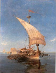 """Argonaudid kreeka kunstniku Konstantínos Volanákise (1837–1907) õlimaalil """"Argo""""."""